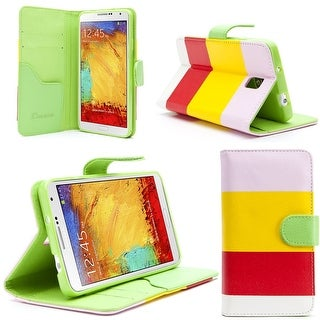 i-Blason Samsung Galaxy Note III Smart Phone Leather Slim Book Case Hue