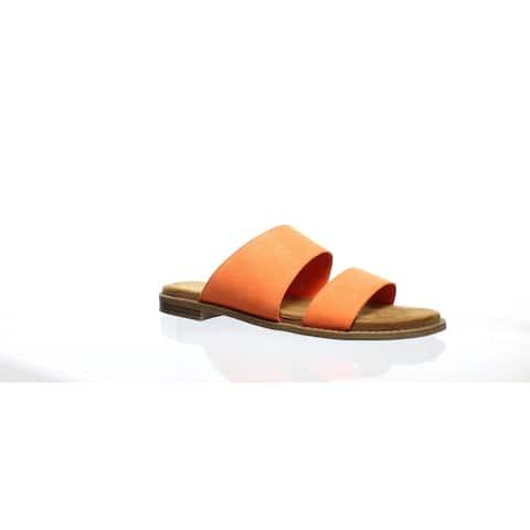Franco Sarto Womens Volume Tangerine Slides Size 7.5