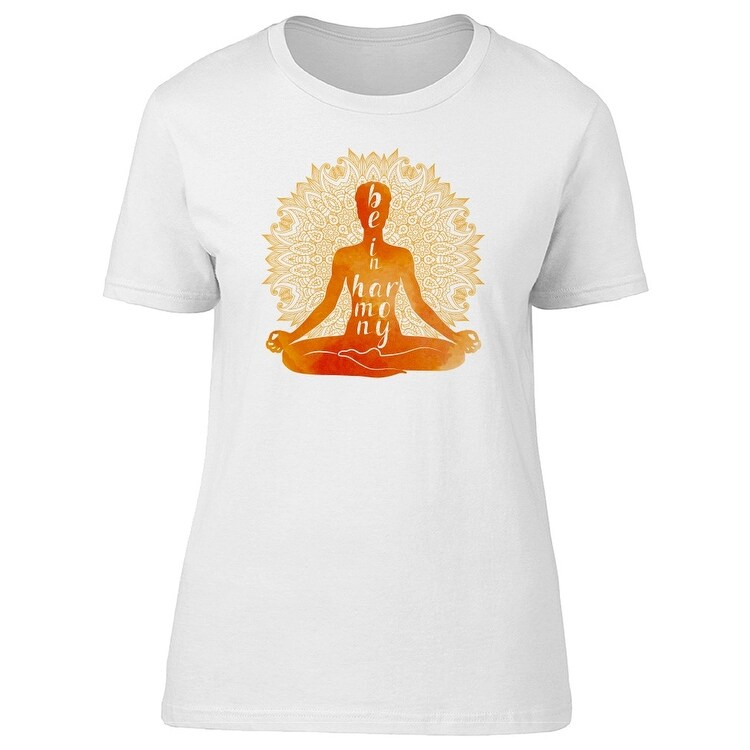 Yoga Harmony Lotus Pose T-shirt for Women