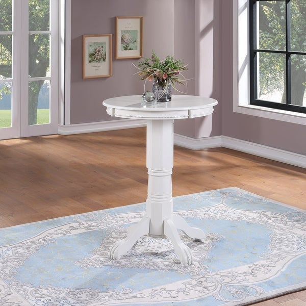 Florence Wood Round Pub Table. Opens flyout.