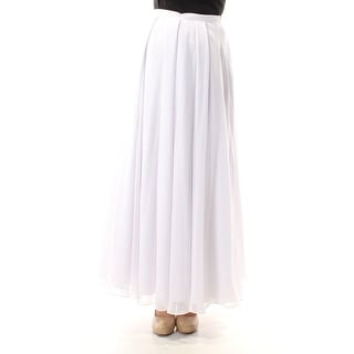 FAME AND PARTNERS Womens White Full Length Circle Skirt  Size 2