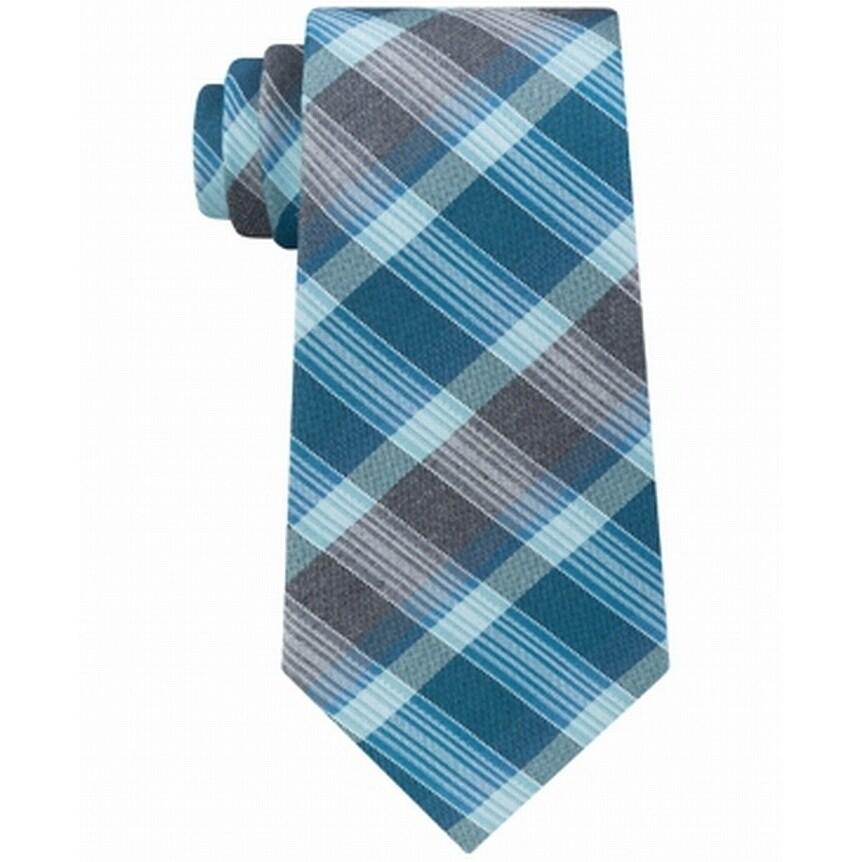 Navy, 3 Kenneth Cole Reaction Mens Slim Denim Stripe Tie