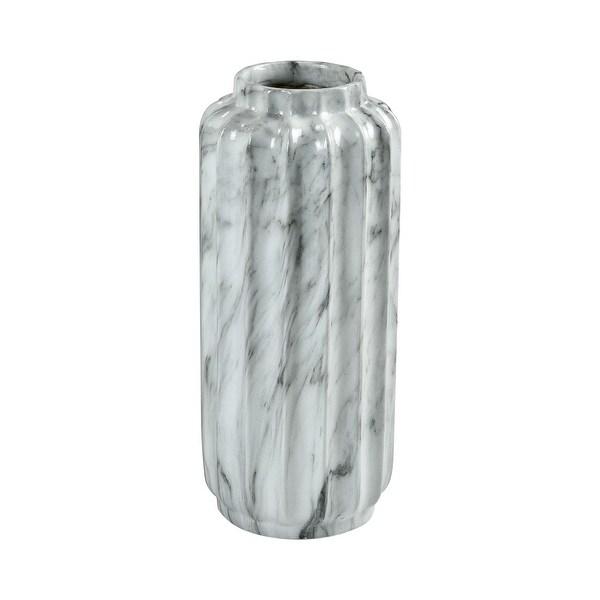 Elk Home 9166-081 Farrara Small Fiberglass Vase - Faux Marble