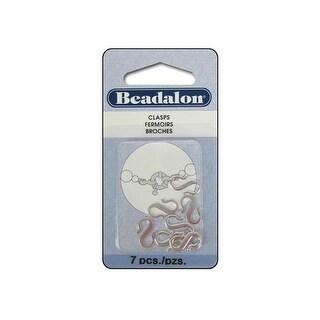 Beadalon S-Hooks Small 7pc Silver Plated