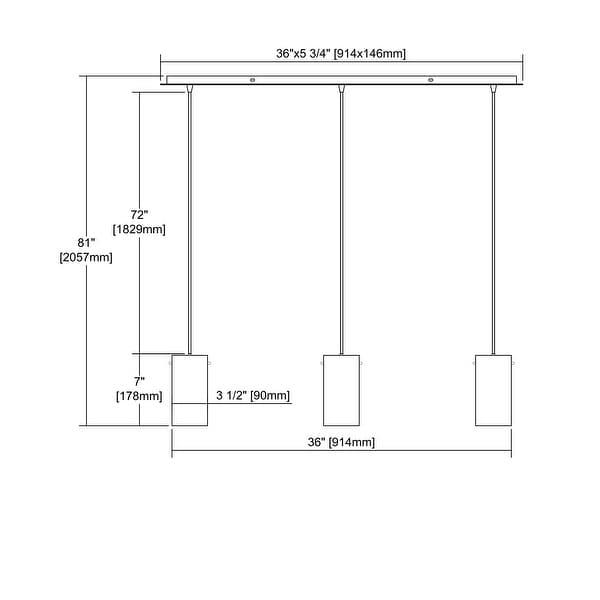 Elk Pendant Options 3-light LED Linear Pendant in Satin Nickel