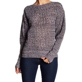 John + Jenn Womens Pointelle Stitch Knitted Sweater