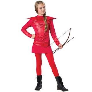 InCharacter Red Warrior Huntress Tween Costume