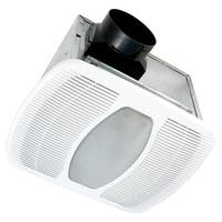 Air King LEDAK100D 100 CFM 2.0 Sones Ceiling Mounted LED Lit Exhaust Fan with Dual Speed Setting - White - n/a