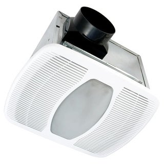 Air King LEDAK100D 100 CFM 2.0 Sones Ceiling Mounted LED Lit Exhaust Fan with Du - White