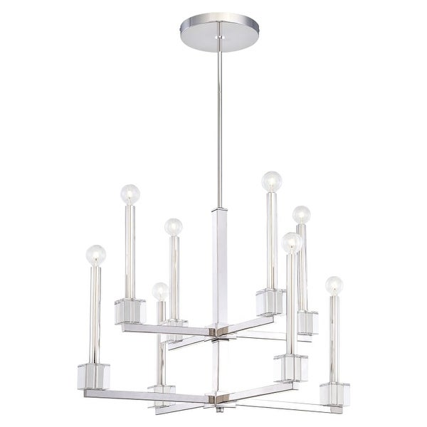 Metropolitan N6871 8 Light 2 Tier Candle Style Chandelier from the Chadbourne Collection