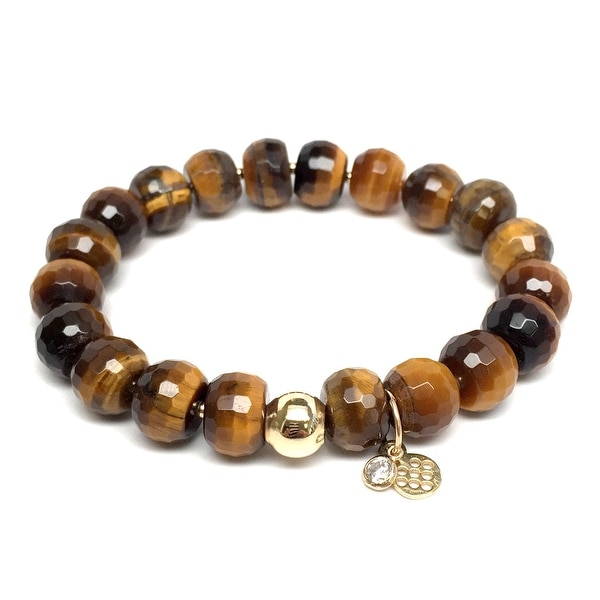 "Brown Tiger's Eye London 7"" Bracelet"
