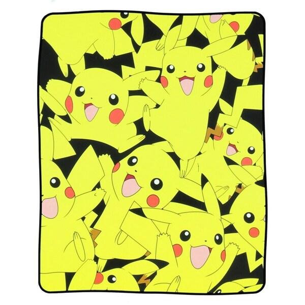 """Pokemon Pikachu 48"""" x 60"""" Plush Throw Blanket"""
