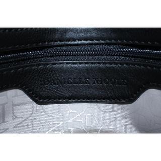 Danielle Nicole Womens Nia Faux Leather Textured Clutch Handbag - black combo - Small