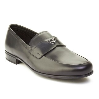 Prada Men's Leather Loafer Shoes Black (3 options available)
