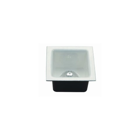 """ProFlo PF906K 12"""" x 12"""" Enameled Cast Iron Floor Sink with Aluminum Strainer - White - N/A"""