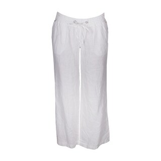 Inc International Concepts Bright White Linen Wide Leg Pants 16