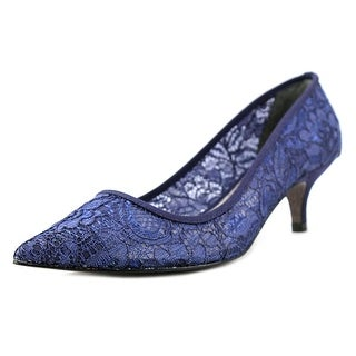 Adrianna Papell Lois Lace Peep-Toe Synthetic Heels
