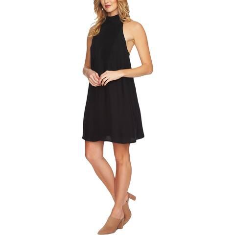 1.State Womens Mini Dress Halter Shift