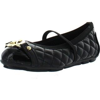 Michael Kors Girls Fulton Jena Qt Designer Quilted Fashion Flats Shoes