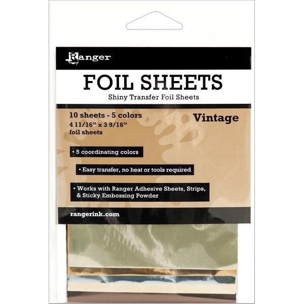 """Inkssentials Foil Sheets 4.69""""X3.56"""" 10/Pkg-Vintage 4.69""""X3.56"""""""