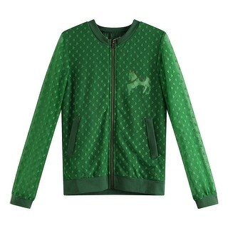 Richie House Girls Green Lace Overlay Zipper Closure Leisure Coat 6-8 (2 options available)