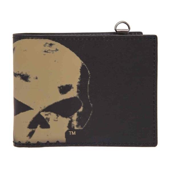 "Harley-Davidson Men's Skull Chop Bi-Fold Wallet, Genuine Leather HDMWA11105-BLK - 4.25"" x 3.5"""