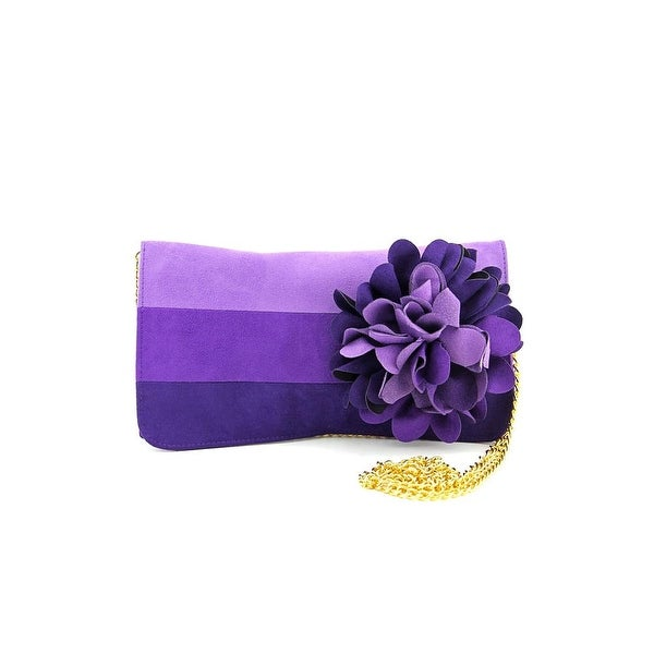 Shiraleah Mimi Women Faux Suede Clutch NWT - Purple
