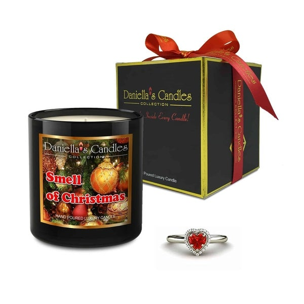 Smell Of Christmas Jewelry Candle, Ring Size 9
