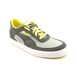 Puma Drez S Jr Youth Round Toe Leather Gray Sneakers