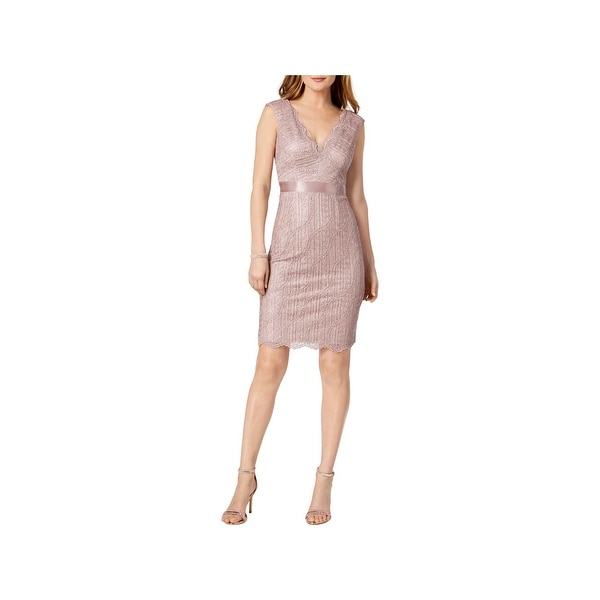 9b777888c4 Shop Adrianna Papell Womens Party Dress Lace Sleeveless - Free Shipping  Today - Overstock - 27875764