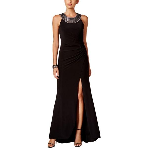 Vince Camuto Womens Evening Dress Embellished Side Slit