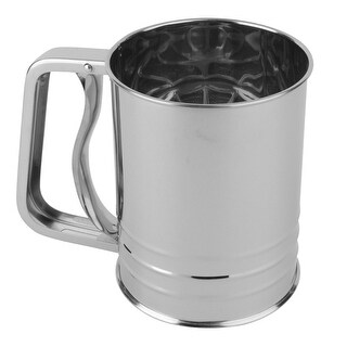 Norpro 138 Flour Sifter, 3 Cup, Stainless Steel