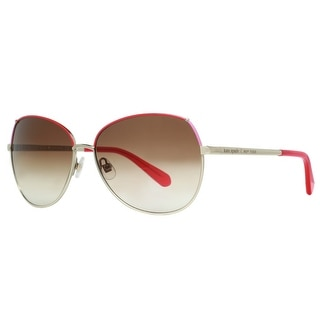 KATE SPADE Butterfly KS CANDIDA/S Women's DH1 Y6 Light Gold/Red/Pink Brown Gradient Sunglasses - 58mm-14mm-135mm