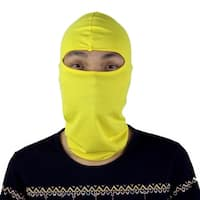 Motorcycle Hiking Full Face Mask Cover Neck Protecting Balaclava Cap Hat Yellow