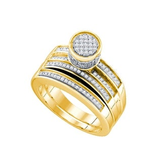 3/8Ctw Diamond Micro Pave Bridal Ring - White