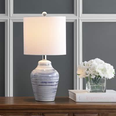"SAFAVIEH Lighting Maxton 21-inch LED Table Lamp (Set of 2) - 10""x10""x21"""