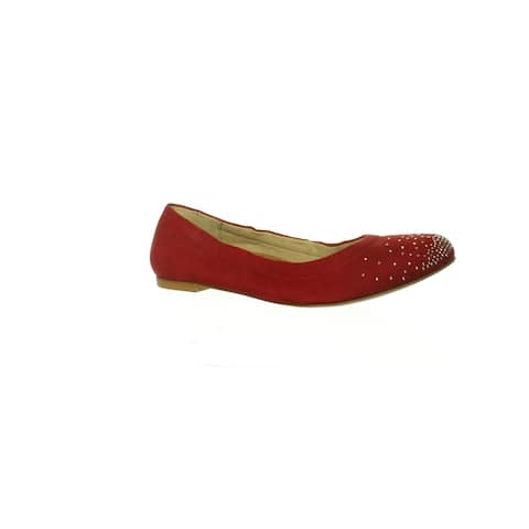 Walking Cradles Womens Blythe Red Nubuck Ballet Flats Size 6.5