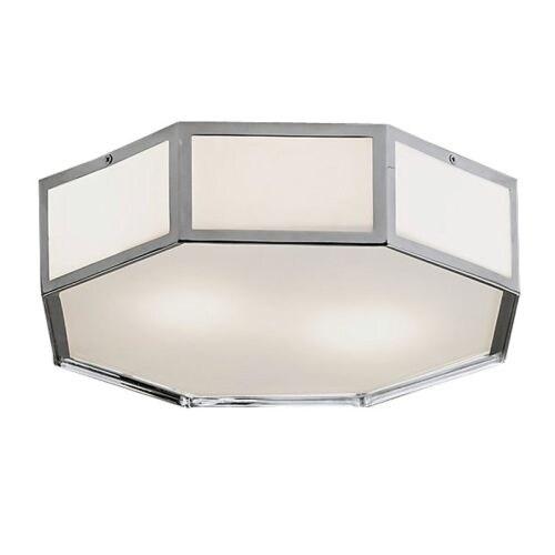HomeSelects International 6112 Savoy 2 Light Flush Mount Ceiling Fixture - Grey