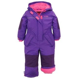 Pink Platinum Little Girls Snowsuit 1-Piece Winter Snowmobile Snowboard Ski Suit (Option: 3t)