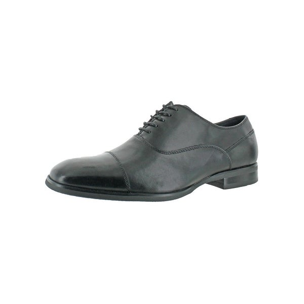 Calvin Klein Mens Carlton Oxfords Lace-Up Square-Toe