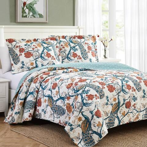 Modern Threads Dierdra 3-Piece 100-Percent Cotton Quilt Set