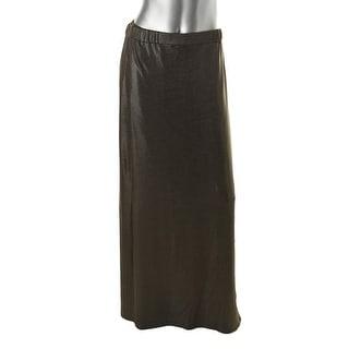 Marina Rinaldi Womens Shimmer Pull On Maxi Skirt - M
