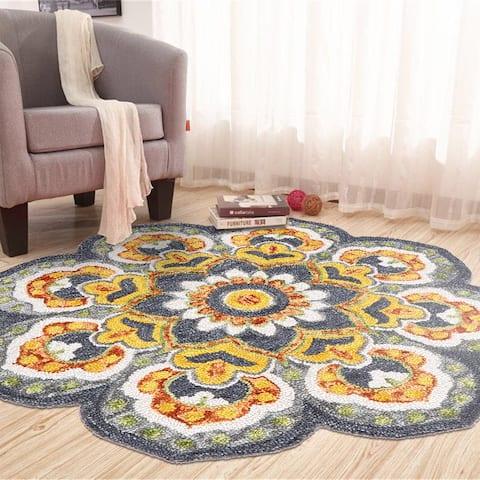 LR Home Dazzle Floral Sun Rug