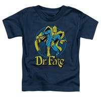 Trevco Dc-Dr Fate Ankh - Short Sleeve Toddler Tee - Navy, Large 4T