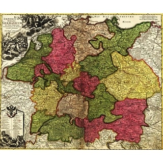 Germany - (1700) - Panoramic Map (Cotton/Polyester Chef's Apron)