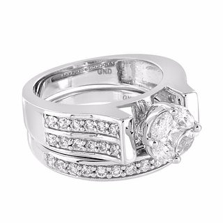 Marquise Cut Solitaire Ring Sterling Silver 2pc Engagement Band Wedding Bridal