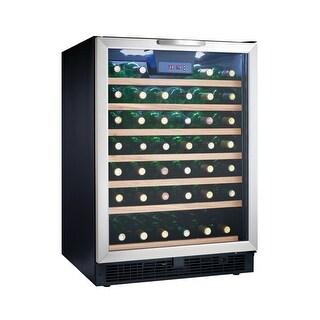 Silhouette DWC508BLS 50 Bottle Built-In Wine Cooler - Black
