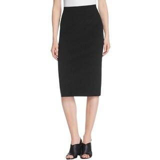 DKNY Womens Pencil Skirt Back Slit Seam Detail