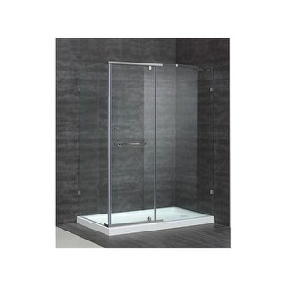 "Aston SEN975-TR-60-10-R 60"" x 35"" Semi-Frameless Shower Enclosure with 3/8"" Glas"