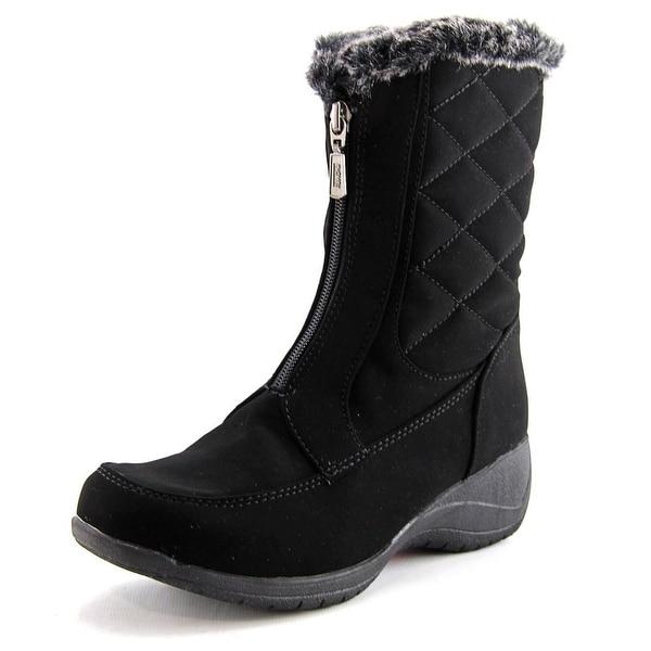 56b71b83f4b Khombu Angela Women Round Toe Synthetic Black Winter Boot